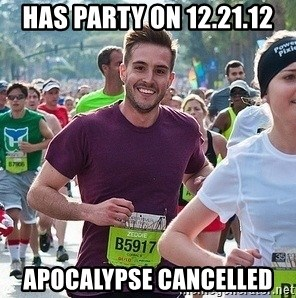 Ridiculously photogenic guy (Zeddie) - Has party on 12.21.12 Apocalypse cancelled