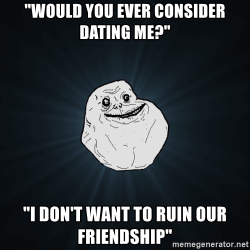 dont want to ruin our friendship by dating