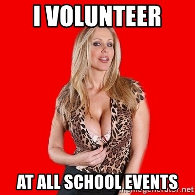 Super Cougar - i volunteer  at all school events