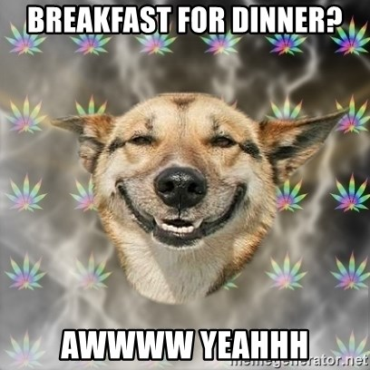 Stoner Dog - Breakfast for dinner? awwww yeahhh