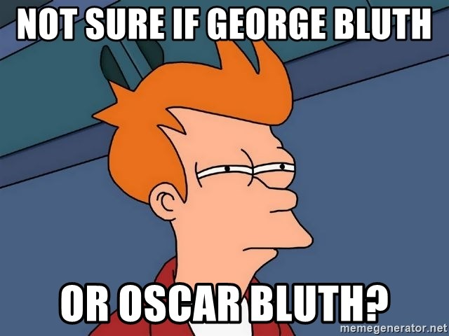 Futurama Fry - Not sure if george bluth or oscar bluth?