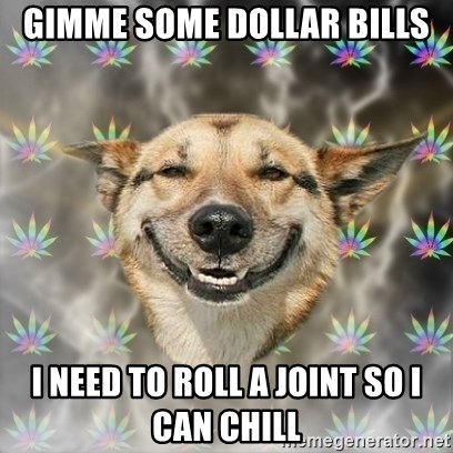 Stoner Dog - GIMME SOME DOLLAR BILLS I NEED TO ROLL A JOINT SO I CAN CHILL