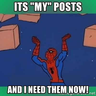 """60's spiderman - its """"my"""" posts and i need them now!"""