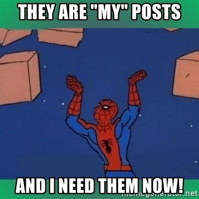 "60's spiderman - they are ""my"" posts and i need them now!"