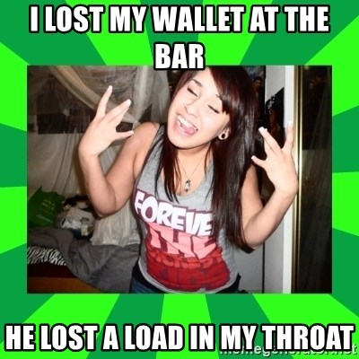 THE TISA - i lost my wallet at the bar he lost a load in my throat