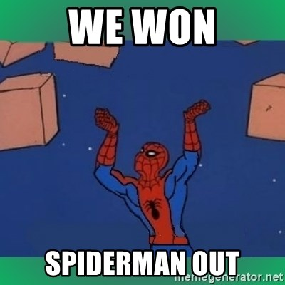 60's spiderman - We won Spiderman out