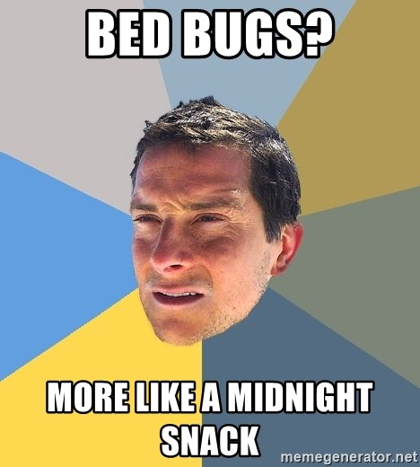Bear Grylls - Bed BUGS? More like a MIDNIGHT SNACK