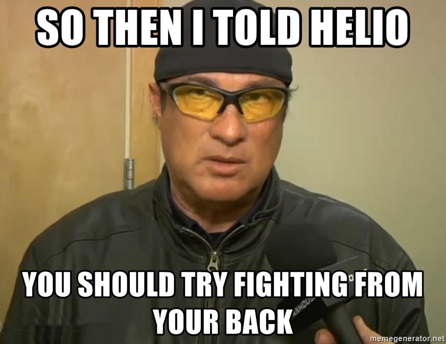 Steven Seagal Mma - So then I told helio You should try fighting from your back