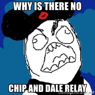 runDisney Rage - why is there no chip and dale relay
