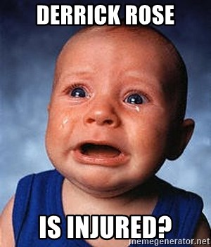 Crying Baby - Derrick Rose Is Injured?