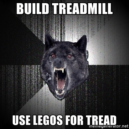 Insanity Wolf - Build TreadMill  Use Legos for tread
