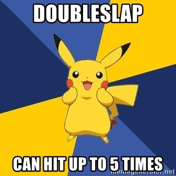 Pokemon Logic  - doubleslap can hit up to 5 times
