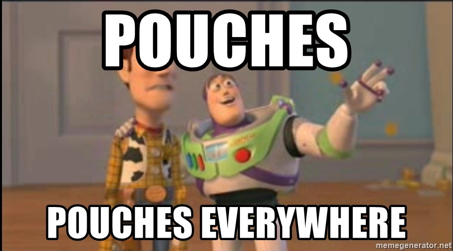 X, X Everywhere  - POUCHES POUCHES EVERYWHERE