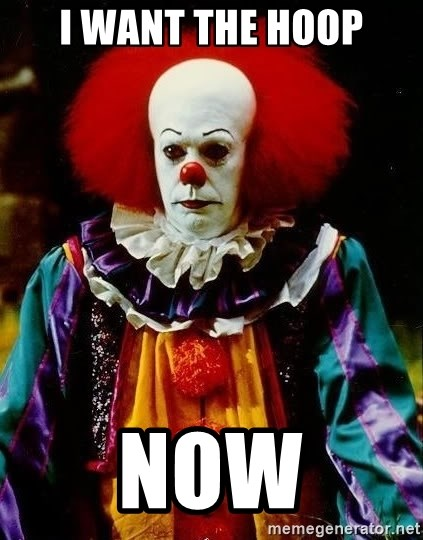 it clown stephen king - i want the hoop now