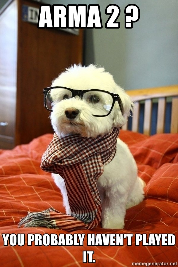 hipster dog - ArmA 2 ? You probably haven't played it.