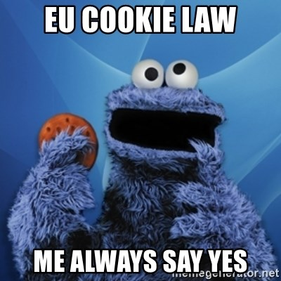 Cookie Monster Desktop - EU cookie law me always say yes