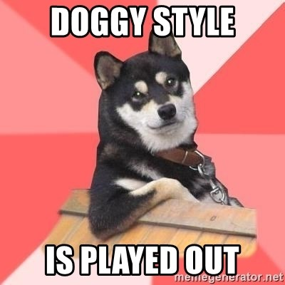 Cool Dog - doggy style is played out