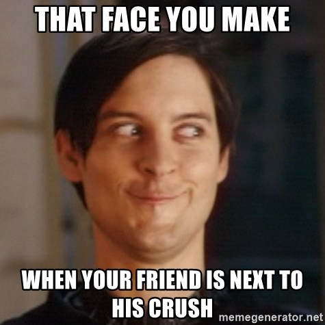 Peter Parker Spider Man - That face you make when your friend is next to his crush