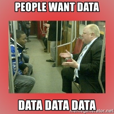 Rob Ford - people want data data data data