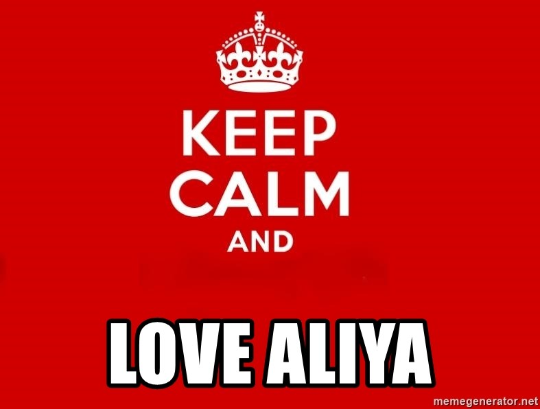 Keep Calm 2 - Love Aliya