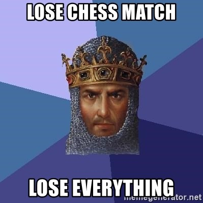 Age Of Empires - Lose chess match lose everything