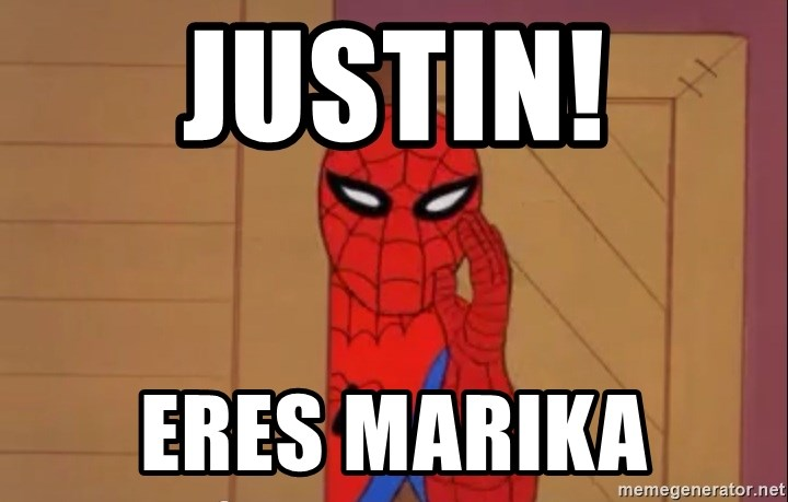 Spidermanwhisper - justin! eres marika