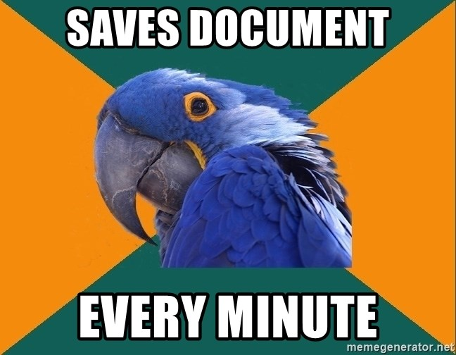 Paranoid Parrot - SAVES DOCUMENT EVERY MINUTE