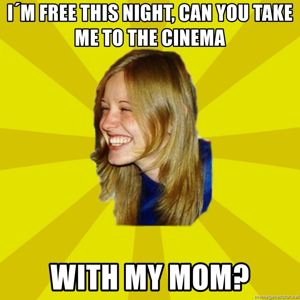 Trologirl - i´m free this night, can you take me to the cinema with my mom?