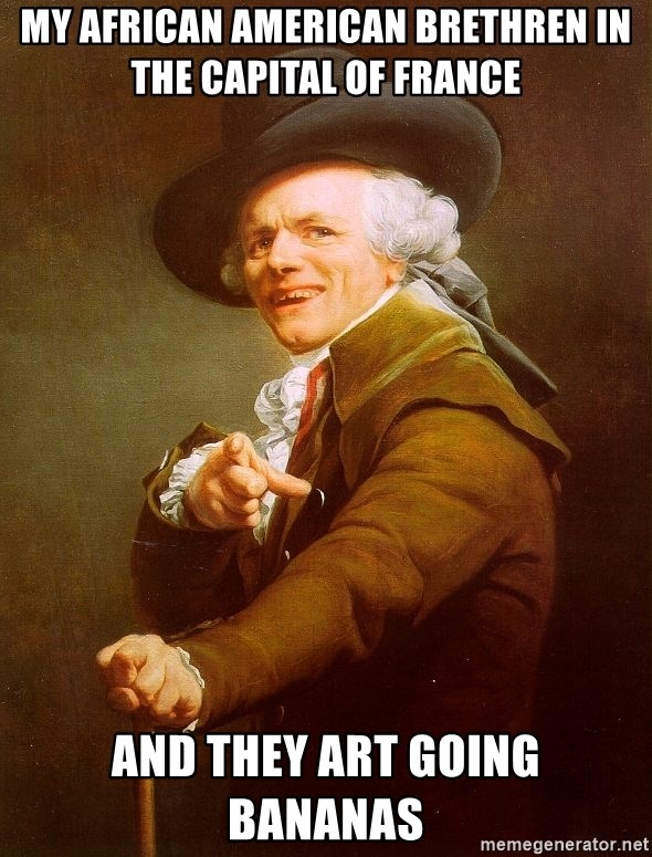 Joseph Ducreux - my african american brethren in the capital of france and they art going bananas