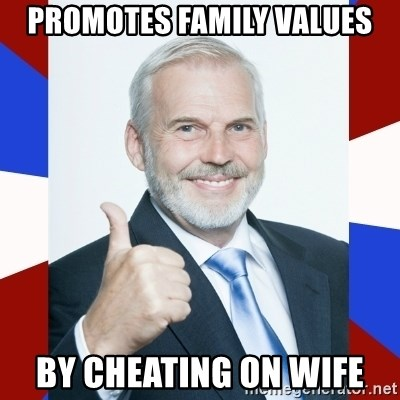 Idiot Anti-Communist Guy - Promotes Family values By Cheating on Wife