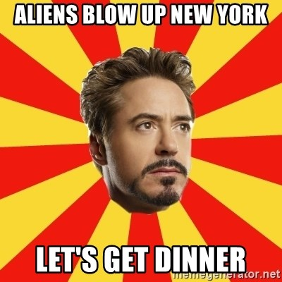 Leave it to Iron Man - Aliens Blow Up New York Let's Get Dinner