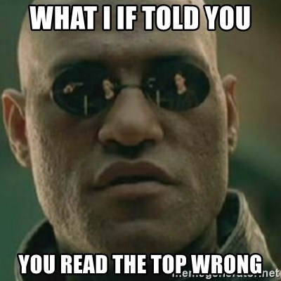 Nikko Morpheus - what i if told you you read the top wrong