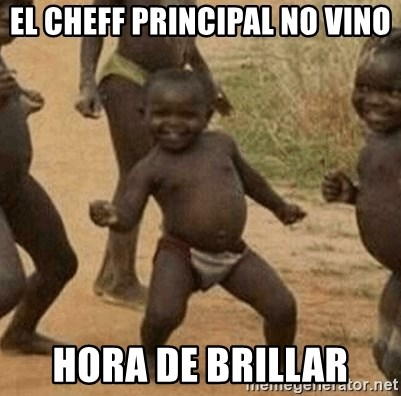 Success African Kid - el cheff principal no vino hora de brillar