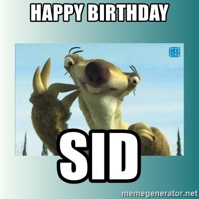 Happy birthday sloth meme - photo#47