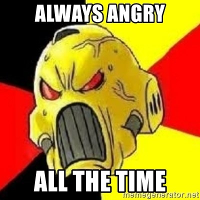 always angry all the time