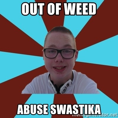 Tamas Weed Abuser - Out of weed Abuse swastika