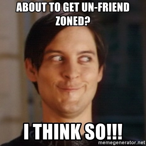 Peter Parker Spider Man - about to get un-friend zoned? i think so!!!