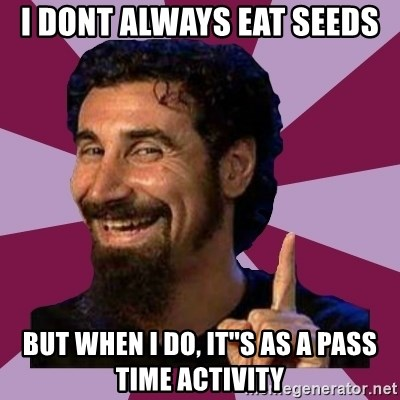 Serj Tankian - I dont always eat seeds but when i do, it''s as a pass time activity