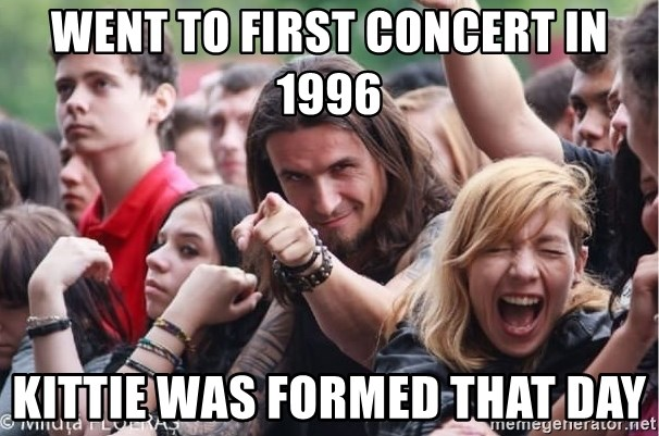 Ridiculously Photogenic Metalhead Guy - went to first concert in 1996 kittie was formed that day