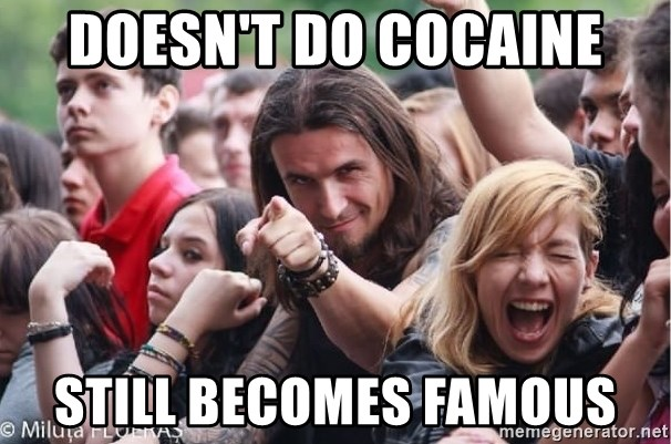 Ridiculously Photogenic Metalhead Guy - Doesn't do cocaine still becomes famous