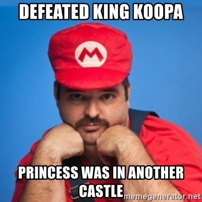 SUPERSEXYMARIO - Defeated king Koopa Princess was in another castle