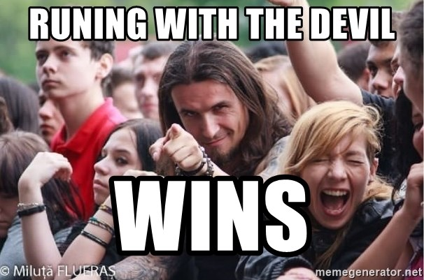 Ridiculously Photogenic Metalhead Guy - Runing with the devil wins