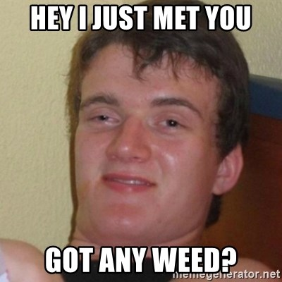 Stoner Stanley - hey i just met you got any weed?