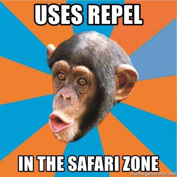 Stupid Monkey - USES REPEL IN THE SAFARI ZONE