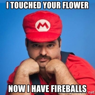 SUPERSEXYMARIO - I touched your flower now i have fireballs