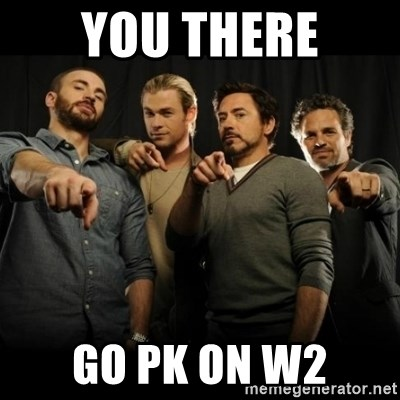 avengers pointing - YOU THERE GO PK ON W2