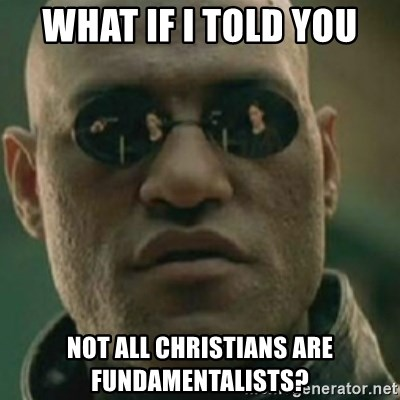 Nikko Morpheus - What if I told YOU not all christians are fundamentalists?