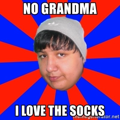 Depressed Ricardo - no grandma i love the socks