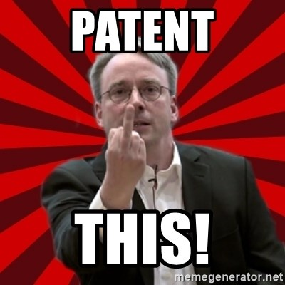 Angry Linus - patent this!