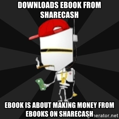 TheBotNet Mascot - Downloads ebook from sharecash ebook is about making money from ebooks on sharecash
